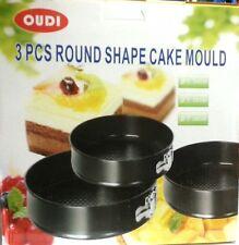 3 PCS ROUND SHAPE CAKE MOULD MAKER SHAPER PASTRY COOKIE MAKER 24,26,28CM