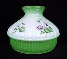ALADDIN LAMP BRAND SHADE N667 10 inch VIOLETS SHADE with GREEN BLUSH NEW IN BOX