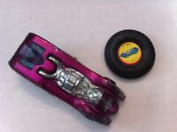 HOT WHEELS REDLINE JET THREAT MAGENTA 1971 HK WITH PLASTIC BUTTON