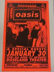 Oasis Concert Poster From 1995! Original Roseland Theatre Portland