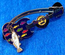 BILOXI SEAFOOD FISHING ROD DANGLING BLUE FISH GUITAR SERIES Hard Rock Cafe PIN