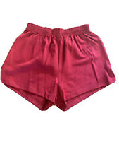 Womens/Juniors Soffe Shorts, Size Med. Deep Red