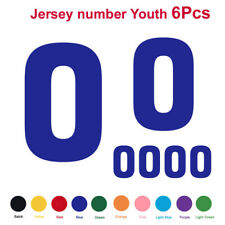 6PCS Youth Jersey Number Vinyl Heat Transfer Iron-On Football Shirt DIY Material