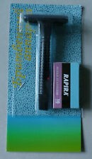 Classic Plastic Single Blade Safety Razor Rapira Super Stainless 10 Blades Gift