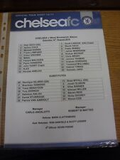 14/08/2010 Colour Teamsheet: Chelsea v West Bromwich Albion  . Thanks for viewin