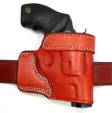 CEBECI BROWN LEATHER OWB YAQUI QUICK DRAW BELT HOLSTER - CHARTER ARMS REVOLVER