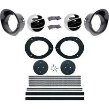 67 68 Camaro & Firebird Dash Astro Ventilation Kit With Black Bezels