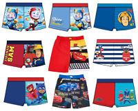 Boys Kids Official Character Swimming Swim Shorts Board Bermuda Or Boxer Trunks
