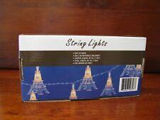 Paris Eiffel Tower String Lights. New in Box. 10 lights. 1 box