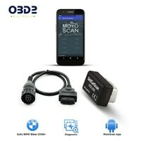BMW Motorcycle OBD2 Scan Tool with Adaptor Cable Motoscan