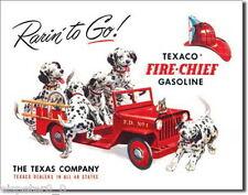 Blechschild 31 x 40, Texaco Fire Chief, USA Werbeschild Art. #594