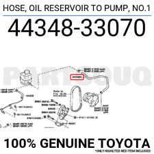 4434833070 Genuine Toyota HOSE, OIL RESERVOIR TO PUMP, NO.1 44348-33070