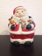 "Santa Claus, Porcelain Tea Light Holder, 5 1/2"" tall"