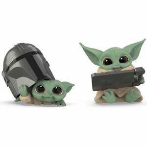 "Star Wars The Mandalorian Bounty Collection. Data pad & Helmet 2.5"" Figures. New"