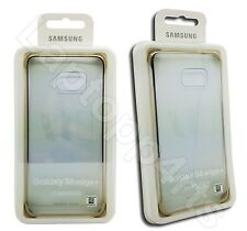 Genuine Samsung Clear Slim Fit Case Cover Gold For Samsung Galaxy S6 Edge Plus