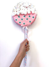 CANDY LAND | Big Pink Lollipop Sucker Christmas Tree Ornament Decor Photo Prop