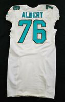 #76 Branden Albert of Miami Dolphins NFL Game Issued Jersey w/ 50th Anv Patch
