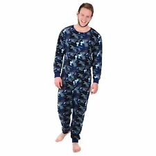 3af7d7d6c9 Mens Fleece Onesie All in One Pyjamas Sleepsuit PJs Jumpsuit Adult  Nightwear Blue Camouflage (c