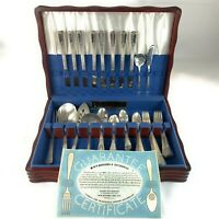 54 pc Wm Rogers Sectional Silverplate Flatware Set International Silver Imperial
