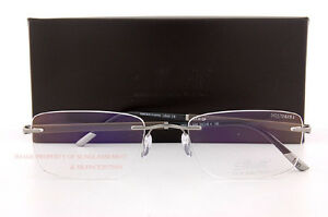 Silhouette Eyeglass Frames Hinge C-2 Collection 5423 6050 Grey/Tobacco SZ 55