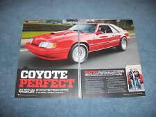 """1986 Ford Mustang SVO Article """"Coyote Perfect"""""""