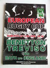 BENETTON TREVISO RUGBY bagno V programma 2 NOVEMBRE 1996 RARO 8 pagine Heineken