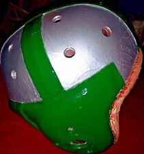 Dartmouth Big Green Vintage Antique 1940's Style Leather Football Helmet Old
