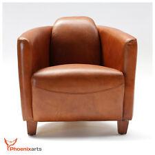 Vintage Ledersessel Braun Echtleder Sessel Design Lounge Retro Clubsessel   543