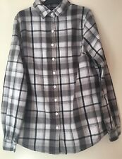Boohoo Ladies Black & White Checked Shirt Long Sleeved Blouse Size 8 VGC Cowgirl