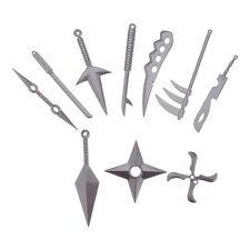 10Pcs/set Metal Sword Knife Kunai Kids Gift Japanese Ninja Cosplay Party Toy New