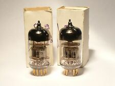 Matched pair 6N2P-EV (12AX7 ECC83) Gold pins Voskhod Rockets NOS NIB 1973
