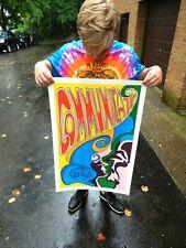 Vintage NOS Original Communicate Protest Hippie Poster Vagabond Creations Dayton