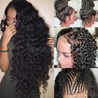 Malaysian Remy Human Hair Curly 360 Lace Front Wigs Pre Plucked Full Lace Wig @A