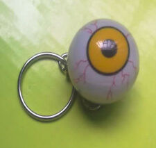 1 Hard Plastic Eye Eyeball w/Keychain Toy For Halloween Deco Prop Party NEW