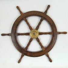 "SHIP WHEEL WOODEN 30""D ~ WOODEN SHIP WHEEL ~ PIRATE DECOR ~ NAUTICAL"