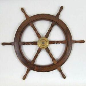 """SHIP WHEEL WOODEN 30""""D ~ WOODEN SHIP WHEEL ~ PIRATE DECOR ~ NAUTICAL"""