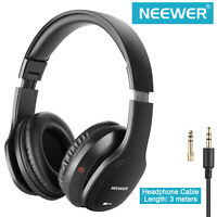 Neewer HD100 Studio Black Monitor Headphone Headset with 3M Cable and Adapter