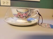 Stechcol Gracie Bone China Tea Coffee Footed Cup Saucer NEW
