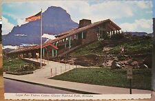 MT Postcard LOGAN PASS Visitor Center Glacier National Park Going-to-Sun Deckled