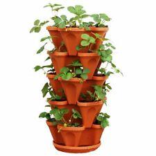 5pcs Dimensional Three-Petal Flower Pot Basin Multi-Layer Superimposed Seed Pots