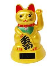 Solar Powered  Maneki Neko Welcoming  Lucky Beckoning Fortune Cat  B style
