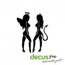 Engel und Teufel Frauen sexy // Sticker JDM Aufkleber Frontscheibe