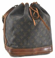 Authentic Louis Vuitton Monogram Noe Shoulder Bag M42224 LV B9238
