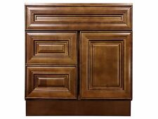 30-inch Vanity Cabinet with Left Drawers Chocolate Glaze