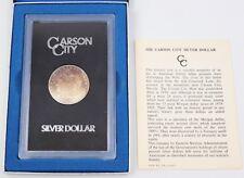 1881-CC GSA Morgan Silver Dollar $1 Obverse Rainbow Toned Carson City Box & COA