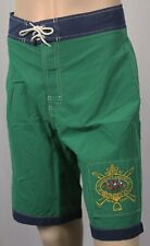 KIDS Polo Ralph Lauren Green Big Pony Match Rugby Board Shorts Trunks NWT