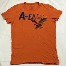 AMERICAN EAGLE - MENS SMALL - ATHLETIC FIT DISTRESSED PATCH LOGO T-SHIRT