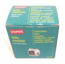 5 off Staples Stainless Metal 4 DIGIT Number Clicker Tally Click Counter Bouncer