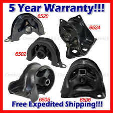 L996 Motor & Trans Mount 5pc for 1992-1993 Honda Civic VX Hatchback 1.5L MANUAL
