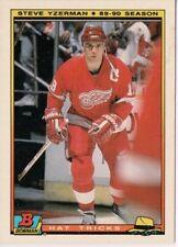 1990-91 Bowman Hat Tricks Red Wings Hockey Card #5 Steve Yzerman
